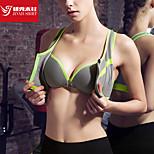 Women's Bra Sport Breathable / Front Zipper / Soft Gray M / L Yoga / Pilates / Fitness / Running-