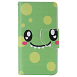 Green Smile Painted PU Phone Case for Sony Xperia Z5 Compact/Z5