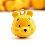 Winnie the Pooh Cartoon Pure Copper Pet Pendant Bell(2 PCS 2cm)