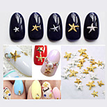-Finger / Zehe-Andere Dekorationen-Andere-50pcs Mix color sizes Starfish Nail DecorationsStück -3mm and 5mmcm