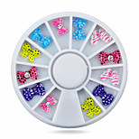 1wheel bow tie nail decoration wheel-Bijoux pour ongles-Doigt / Orteil- enAdorable-6cm wheel