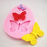 Silicone Mold Chocolate Fondant Cake Fondant Three Small Butterfly