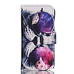 Cat Eyes Painted PU Phone Case for iphone5SE