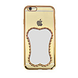 Fashion Magic Mirror plating Transparent Luxury TPU Soft Case for iPhone 6 Plus/6s Plus(Assorted Colors)