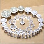33pcs bolo fondant biscoitos decoração sugarcraft êmbolo ferramentas de corte molde