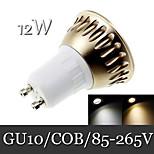 1pcs Ding Yao GU10 12W 1LED COB 500lm Warm White / Cool White Recessed Retrofit Decorative LED Spotlight AC 85-265V