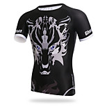 XINTOWN Men Sports Cycling Jersey Bike Breathable T-shirt Wolf