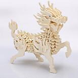 3d puzzles de modelo animal DIY artesanal de madeira tridimensional simulação de quebra-cabeça da Kirin brinquedos educativos para crianças