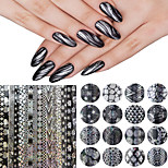 16pcs/Set 20*4cm New Arrival Simplist Style Transfer Nail Foils Geometric Stickers For Adult DIY Nail Tools