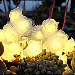 30Head 3D Rose Flower LED Light for Wedding Happy Newyear Decoration(Length:3.2m)
