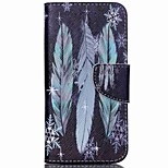 Cross Pattern Leather Wallet Cover Case for Acer Liquid Jade Z - Colorized Feathers