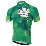 XINTOWN Green Dazzle Cycling Clothing Bike Bicycle Short Sleeve Tops