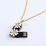 8gb Halskette Blume Gänseblümchen Schmuck USB 2.0 drehbaren Flash-Memory-Stick-Laufwerk u Festplatte zp-02