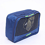 Travel Packing Organizer / Inflated Mat Travel Storage Fabric Blue / Green / Red