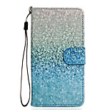 Green Sand Pattern PU Leather Full Body Case with Stand for Wiko Rainbow Jam 4G