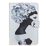 Girl Pattern PU Leather Full Body Case with Stand for iPad mini 1/2/3