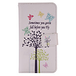 Butterfly Tree Painted PU Phone Case for Huawei P8 Lite/P8