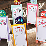 5PCS Creative Adorable Family N Stickers Torn Section Color Can Stand Post  Sticky Note(Style random)