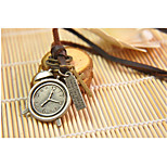 Vilam® Vintage Alarm Clock Leather Necklace Copper Necklace Pendant Necklaces Sports 1pc