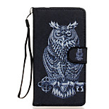 Owl Pattern PU Leather Full Body Case with Stand for Wiko Fever