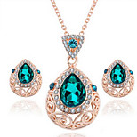 Diamond Drop Crystal Alloy Jewelry Set Necklace/Earrings Wedding / Party / Daily / Casual 1set