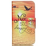 Cross Pattern Magnetic Leather Stand Cover for Wiko Rainbow Up - Never Stop Dreaming