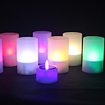 1Pc Solar Power Color Changing Led Tea Light Tealight Candle Flameless Flickering Xmas Wedding