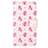 Rose Flower Pattern Embossed PU Leather Case for iPhone 5/iPhone 5S/iPhone SE