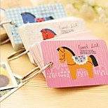Ring Type Pony Little Creative Notepad(1 PCS Random Color)