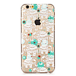 Fashion Cool Elephants Painted Pattern Hard Plastic Back Cove For iPhone6/6S 4.7