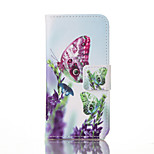 Butterfly PU Leather Wallet with Card Holder and Stand for Iphone 5 5s 5se 6 6S 6 Plus 6S Plus