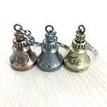 Vilam® Vintage Fashion Sculpted Carved Copper Jingle Bell Keychain