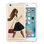 Queen's Favorites Soft Shockproof Transparent Silicone Back Case for iPhone 6 Plus/6S Plus(Assorted Colors)