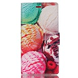 Pearl Grain Leather Phone Case for Huawei Ascend P8 Lite - Ice Cream Ball