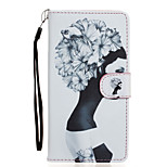 Girl Pattern PU Leather Full Body Case with Stand for Wiko Fever