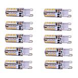 10 stk. NO E14 / G9 3W 48 SMD 2835 260 lm Varm hvid / Kold hvid T Justérbar lysstyrke LED-lamper med G-sokkel AC 220-240 V
