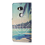 Anchor and Sea Magnetic PU Leather wallet Flip Stand Case cover for Huawei Honor 5X
