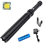 LS1786 Powerful 3800 Lumens 3-Mode CREE XM L2 Telescopic Baton Self Defense Police Patrol LED Rechargeable Flashlight