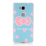 Sweet Bow Pattern Soft TPU Back Cover Case for Huawei Honor 5X