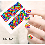 1pcs  Water Transfer Nail Art Stickers  Abstract Image Beautiful  Flower Nail Art Design STZ166-170