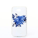 Blue Chrysanthemum Pattern TPU+IMD Soft Case for LG L90/H422/H502