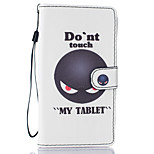 Don't Touch Me Pattern PU Leather Full Body Case with Stand for LG LS770