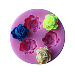 Three Flower Shape Cake Border Fondant Cake Molds Soap Chocolate Mould The Kitchen