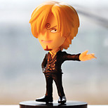 One Piece Anime Action Figure 9CM Model Toy Doll Toy (6 Pcs)
