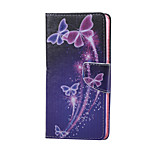Cross Textured Leather Magnetic Stand Phone Case with Card Slot for Huawei Honor 5X - Vivid Butterflies