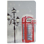 Red Pavilion Pattern Combo Bracket TPU and PU Leather Material Case for iPad Mini 3/2/1