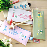 1PC Cartoon Oxford Cloth Zipper Pencil Bag Students Stationery(Style random)