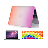 3 in 1 Rainbow Colorful Plastic Full Body  Case +Keyboard Cover+ Screen Protector for MacBook Pro 13