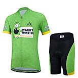 CHEJI Boy Girl Kid Cycling Bike Bicycle Short Sleeve Jersey + Shorts Suit