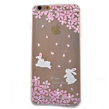 White Rabbit Cherry Diamond Glitter Slim TPU Material Phone Case for iPhone 6 Plus/ 6S  Plus